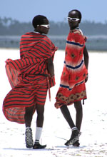 Maasai on Matemwe Beach, Zanzibar